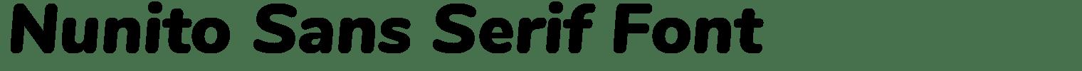Nunito Sans Serif Font