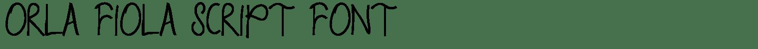Orla Fiola Script Font