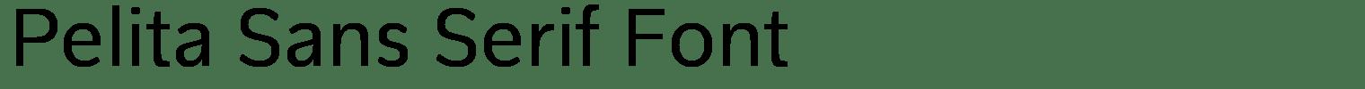 Pelita Sans Serif Font