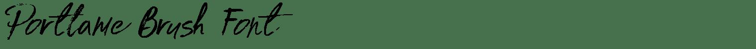 Portlame Brush Font