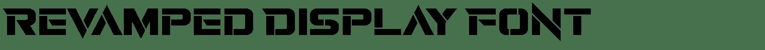 Revamped Display Font