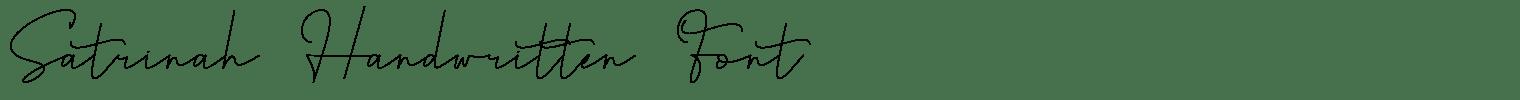 Satrinah Handwritten Font
