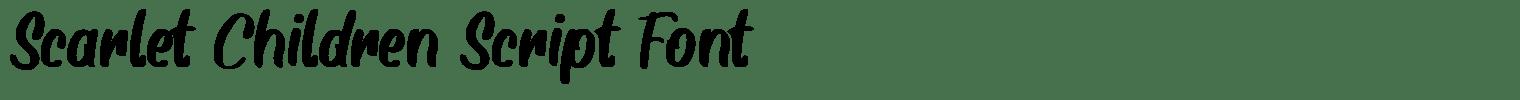Scarlet Children Script Font