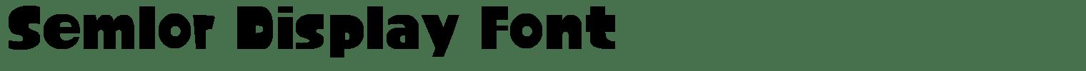 Semlor Display Font