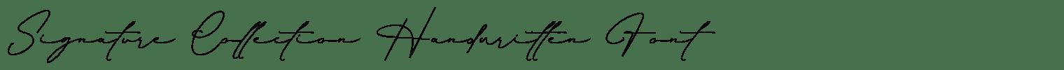 Signature Collection Handwritten Font