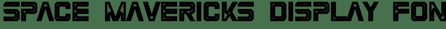 Space Mavericks Display Font