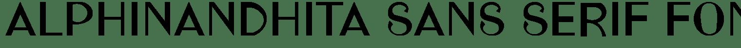 Alphinandhita Sans Serif Font