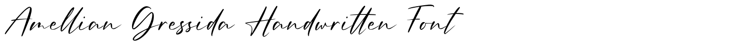 Amellian Gressida Handwritten Font