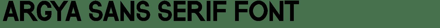 Argya Sans Serif Font