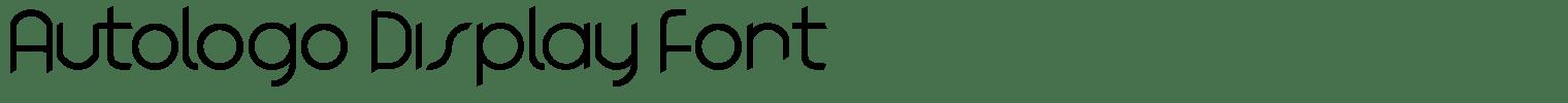 Autologo Display Font