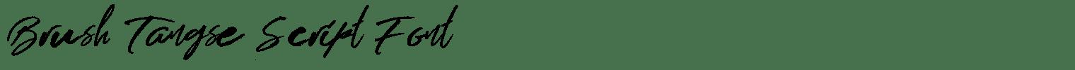 Brush Tangse Script Font