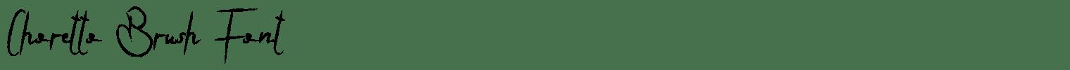 Choretto Brush Font