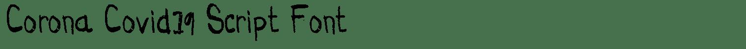 Corona Covid19 Script Font