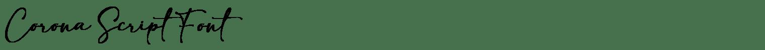 Corona Script Font