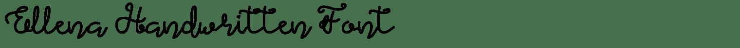 Ellena Handwritten Font