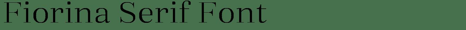 Fiorina Serif Font