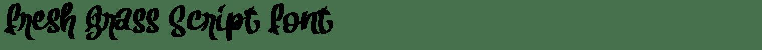 Fresh Grass Script Font
