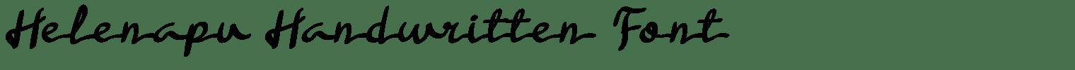 Helenapu Handwritten Font