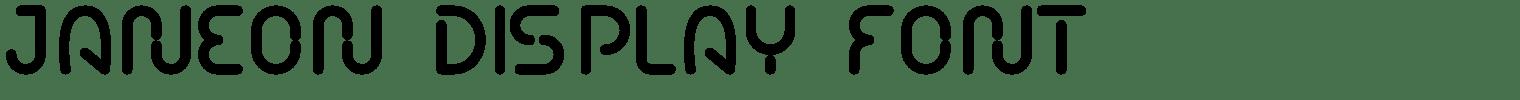 JANEON Display Font