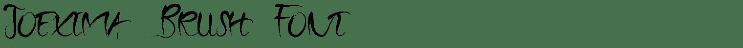 Joexima Brush Font