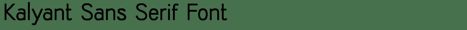 Kalyant Sans Serif Font
