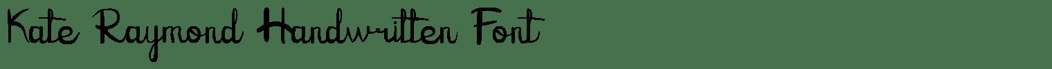 Kate Raymond Handwritten Font