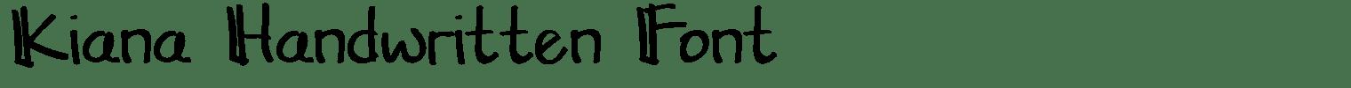 Kiana Handwritten Font