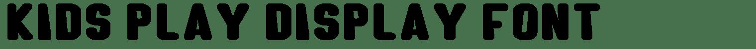 Kids Play Display Font