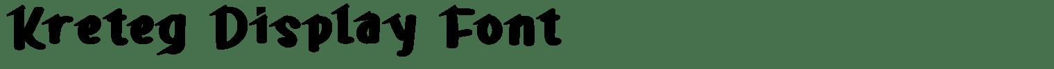 Kreteg Display Font