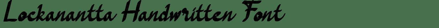 Lockanantta Handwritten Font
