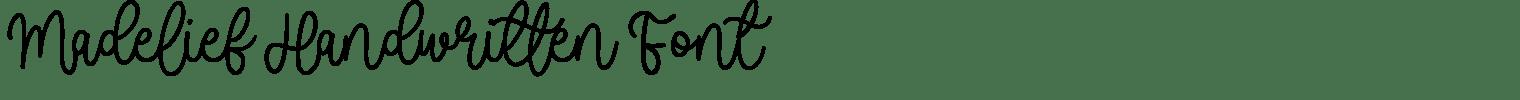 Madelief Handwritten Font