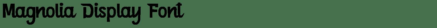 Magnolia Display Font