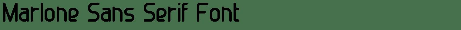 Marlone Sans Serif Font
