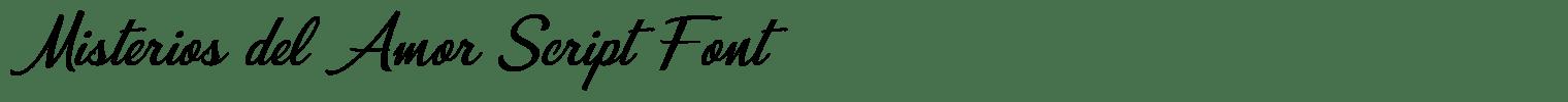 Misterios del Amor Script Font