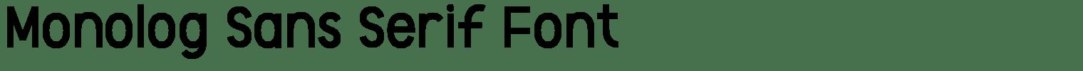 Monolog Sans Serif Font