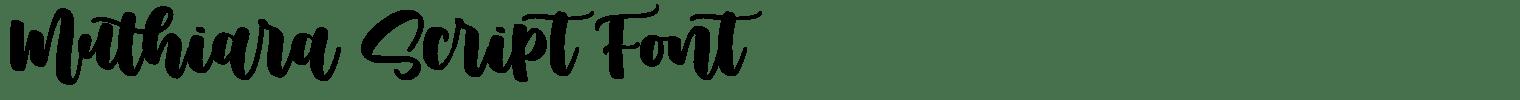Muthiara Script Font