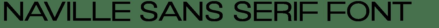 Naville Sans Serif Font