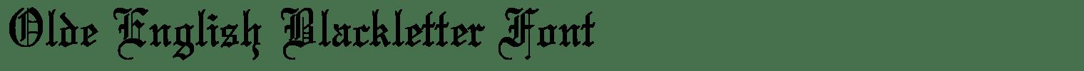 Olde English Blackletter Font