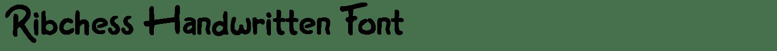 Ribchess Handwritten Font