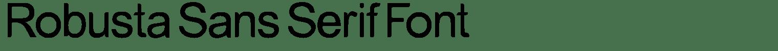 Robusta Sans Serif Font