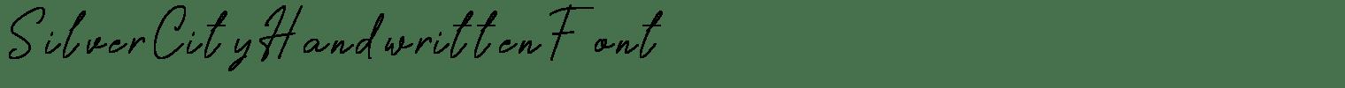Silver City Handwritten Font