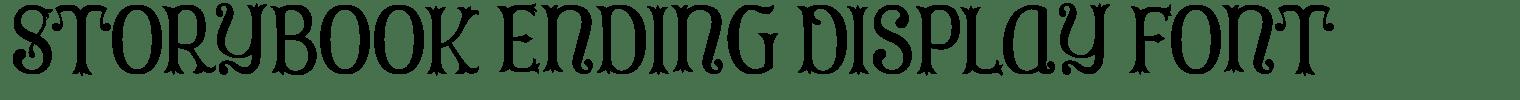 Storybook Ending Display Font