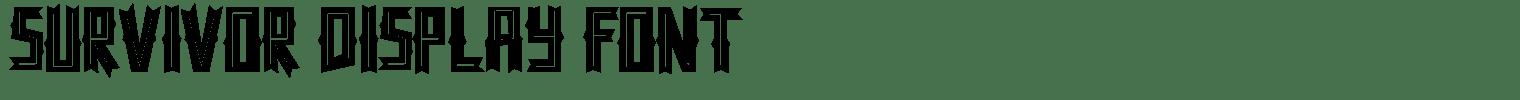 Survivor Display Font