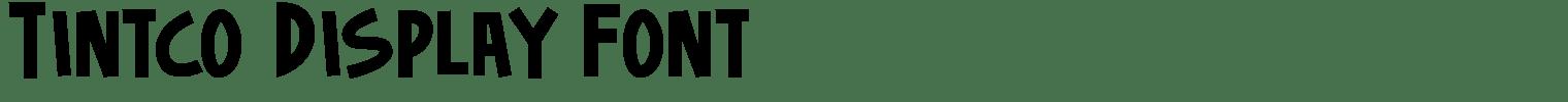 Tintco Display Font