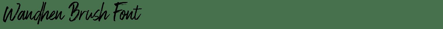 Wandhen Brush Font