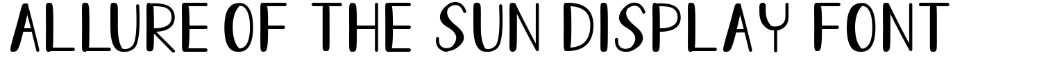 Allure Of The Sun Display Font