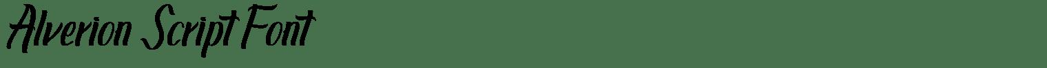 Alverion Script Font