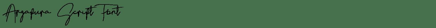 Argapura Script Font
