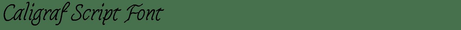 Caligraf Script Font