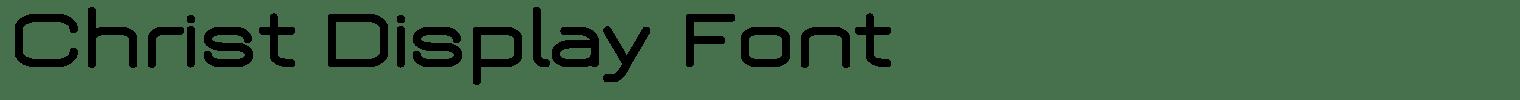 Christ Display Font